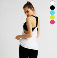 Wholesale Compressed Women T Shirts - Women Fashion Gym Sports Tank T Shirt Yoga Workout Vest Fitness Training Exercise Running Clothing Compress Tee Tops Clothes