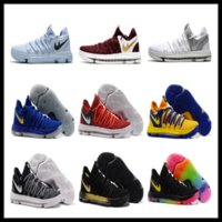 Wholesale Dmx 36 - KD 10 kids sneakers Fmvp Kevin Durant Childrens basketball shoes Top Quality (With Box) free shipping size 36-40