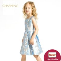 Wholesale Girls Fashion Clothing China - Brand new fashion girl dress Designer children s clothing Quality printed round neck sleeveless dress Best wholesale suppliers from china