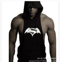 Wholesale White Sleeveless Hoodie Men - Wholesale- Men Cotton Hoodie Sweatshirts fitness clothes bodybuilding tank top men Sleeveless Tees Shirt Casual golds vest