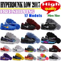Hyperdunk 2017 Low EP Men Knitting Basketball Shoes para homens Hot Sale Hyperdunks Sports Sneakers Trainers Mens Casual Boots Tamanho 40-46