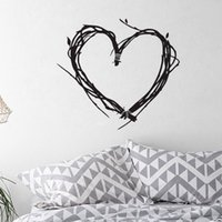 Wholesale Tree Branches Wall Stickers - Heart Shaped Tree Branch Wall Stickers Home Decor Living Room Removable Vinyl Wall Decals Bedroom Decoration