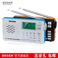Wholesale Degen Sw Radio - Wholesale-Degen DE29 FM MW SW Full-Band short wave dab digital radio kits with MP3 lyric display,DSP RECEIVER,worldwide voice receiver