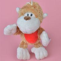 Wholesale Monkeys Toys Brands - Brand New 20cm Soft Stuffed Golden Monkey Plush Toy, Baby Kids Brithdat Party Doll Gift Free Shipping