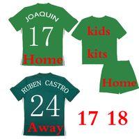 Wholesale Quality Soccer Kits - Thai quality 2017 2018 Real Betis home away Soccer Jersey kids kits JOAQUIN VAN DER VAART RUBEN CASTRO 17 18 home away Football Shirts Cam