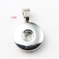 Wholesale 18mm Gold Plated Chain Wholesale - Hot Sale High Quality Pendant Of Necklace Fit 18mm 12mm Snap Button Jewelry