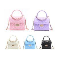 Wholesale Rhombus Purse - Baby Bag Fashion rhombus Metal Chain Children Handbags 2017 New mini purses Girls Shoulder Bags Korean Princess Messenger Bag C516