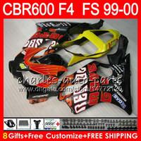 Wholesale 99 honda cbr f4 fairings resale online - 8Gifts Colors Bodywork For HONDA CBR F4 CBR600FS FS NO33 Repsol red CBR600 F4 CBR F4 CBR600F4 Fairing Kit