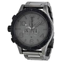 мужские часы оптовых-NX роскошные Gunmetal матовый черный мужские часы кварцевые 51-30 a083-1062 водонепроницаемый хронограф a0831062 наручные часы + оригинальный футляр