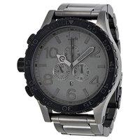 montres mattes achat en gros de-NX luxe Gunmetal Matte Black montre homme quartz 51-30 a083-1062 étanche chronographe a0831062 montre-bracelet + boite d'origine