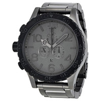 relógios venda por atacado-NX luxo Gunmetal Matte Black mens relógio de quartzo 51-30 a083-1062 cronógrafo à prova d 'água a0831062 relógio de pulso + caixa original