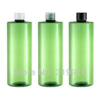 Wholesale Screw Top Empty Container - free shipping big capacity 500ml green empty PET bottles containers storage with screw top lid 12pc lot