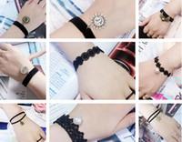 Wholesale Braid Pendant Bracelets Fashion - Wholesale- S 68 2016 hot fashion lace velvet ribbon bracelet braided rope bracelet female retro pendant best gift factory outlets