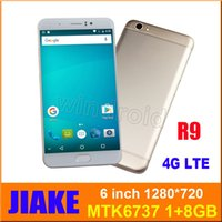 Dual Sim Lte Mobile Kaufen -JIAKE R9 6 Zoll Smartphone MTK6737 Quad Core Android 6.0 1G 8G 1280 * 720 Dual SIM Kamera 8MP 4G LTE 3G entriegelte Geste wake mobile phablet