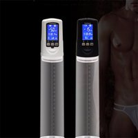 Wholesale Male Penis Enlarge - Penis Pump with USB Rechargeable,enlarge penis extender,LED Automatic Penis Enlarger Male Enhancement,sex toys for men