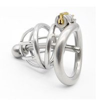 Wholesale sounding sex game resale online - Chastity Cages Catheters Sounds Top Quality Stainless Steel Male Spiral Metal Penis Ring Virginity Lock Adult Games Sex Toys for Men G171
