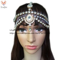 Wholesale Diamante Hair Bands - HC-160 Full Crystal Diamante head band hair jewelry wedding bridal head Jewelry,head chain birthday boho