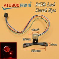 Wholesale 2pcs Car Styling LED Multi Colors RGB Devil Eyes Demon Eye For quot Car Headlight Projector Lens