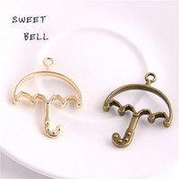 Slides, Sliders order umbrella - Sweet Bell Min order pieces mm Two color Alloy Hollow umbrella Charm Pendant Jewelry Making Pendant DIY Handmade Craft D6078