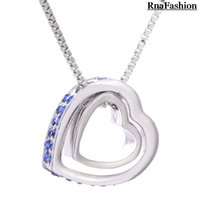 Wholesale Eternal Love Necklace - Wholesale- Wholesale Austria Crystal Rhinestones charms heart necklace personalized jewelry Eternal Love Honey For WomenCasual and Fashion