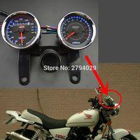 Wholesale Tacho Universal Speedometer - Universal Motorcycle Tachometer Speedometer Speedo meter Tacho Gauge +Odometer Indicators Turn Signal for motorbike custom