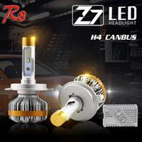 галогеновый комплект h4 оптовых-1 компл. Z7 H4 9003 HB2 60 Вт 7000LM светодиодные фары супер тонкий комплект LUMILED LUXEON ZES чипы встроенный Canbus декодер заменить HID ксеноновые галогенные лампы