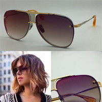 Wholesale Designer Sunglasses Gold Green - Dita sunglasses new dita Decade Two sunglasses women brand designer metal square shape retro men design Usher oversize gold plated