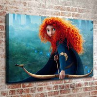 Wholesale Merida Frames - (No frame) Brave merida two HD Canvas print Wall Art Oil Painting Pictures Home Decor Bedroom living room kitchen Decoration