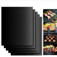Wholesale Bbq Grill Sets - BBQ Grill Mat No Stick Barbecue Cover 33*40cm Outdoor Pad Sheet Tools Cooking Tool 2pcs set OOA1892