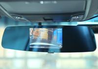 fhd ekranı toptan satış-FHD Çift Ekran Dikiz Aynası Çizgi Kam Araba DVR Kaydedici IR Gece Görüş Yetenekleri Döngü Kayıt G Sensörü Hareket Algılama PZ909A