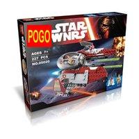 Wholesale Toy Bicks - POGO 05020 07032 Obiwan's Jedi interceptor Micro Fighters Building Bicks Blocks Baby Toys