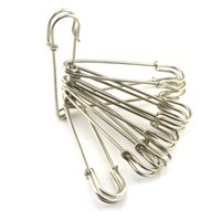 Wholesale Needle Home Craft - 10 Pcs 4 Inch Large Nickel plated Silver Metal Safety Pins Sewing Art Crafts Home Hand Sewing Needle