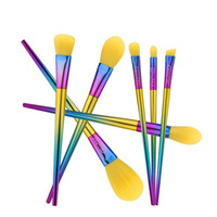 Wholesale multi coloured hair for sale - High quality yellow hair brush dazzle colour handle makeup brush makeup tools dhgate vip seller