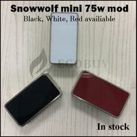 batteries de boulons achat en gros de-100% original Snowwolf Mini 75w temp-Control mod loup des neiges 75 18650 batterie Mods vs sigelei 150w plus 80w vt75 rx200s al85 fuchai 213