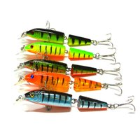10.5cm 9.6g 2 Sections Fishing Minnow Lure Crochets artificiels à l'appât Crankbait Pêche Tackle Plastic Hard Bait Wholesale 2508044