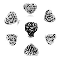 Wholesale Wedding Bouquets Beads - comejewelry Flowers&Wedding Bouquet Stainless Steel Heart Beads Fit Pandora European Style Big Hole African Beads for Jewelry Makin