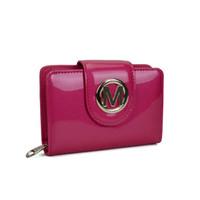 einfacher beutelgeldbeutel großhandel-Plain Short Lady Wallets Halter Patent Leathe Lässige Hasp Clutch Bag Paket Multi-bit Mode Frauen Geldbörse VKP1442