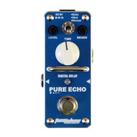 Wholesale Pedal Connectors - Promotion! AROMA APE-3 PURE ECHO Digital delay Mini Analogue Effect True Bypass +pedal connector +1 tuner
