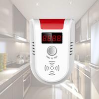 Wholesale Sensor Gas Leakage - LED Digital Display Gas LPG Household Leakage Detector Monitor Voice Alarm Sensor GD13