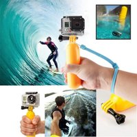 Wholesale Gopro Floaty - 2016 New Floaty Floating Hand Grip Handle Mount Accessory Float+Strap For GoPro Hero 3+3 2 1 Go pro Accessories