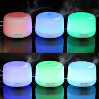 Wholesale Led Light Changable - New 500ml 300ml Color Changable LED Light Essential Oil Aroma Diffuser Ultrasonic Air Humidifier Mist Maker for Home & Bedroom Free Shipping