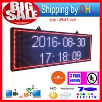 P13 RGB Outdoor39X14inch 7 colori 3D Effetti LED segna WiFi Wireless Control LED LED Rolling Displayprogrammable Display Panel