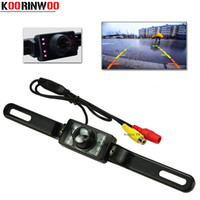 Wholesale Genuine Vision - Genuine Koorinwoo Parking System License Plate Car Reversing Cam Back Up IR LEDS infrared Night Vision Car Rear View Camera 2017