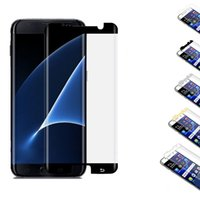 Wholesale 3D Curved Tempered Glass for Samsung S7edge S8 S8plus HD Cell Phone Screen Protectors Front Anti Scratch Asahi Glass