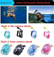 Wholesale Wholesale Snorkels Mask - 2017 Brand Underwater Diving Mask Snorkel Set Swimming Training Scuba mergulho full face snorkeling mask Anti Fog No camera stand M481
