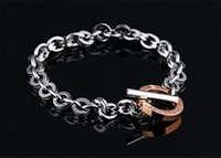 Wholesale Braclet Free Shipping - Free shipping sample price promotion brand new women's stainless steel bracelets girl's gift braclet chains chain simple style GS855