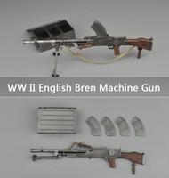 Wholesale Toy Gun Ammo - Upgrade WW II English Army Bren Light Machine Gun toy With Ammo Box And 4 Clips 1:6 Gun Military Model Toy Plastic