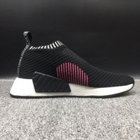 Wholesale Socks For Women Winter - (With Box) NMD R2 Shadow Noise Running Shoes for Men and Women New NMD City Sock Summer Knitting Sneakers Outdoor Hiking Shoes Black Grey