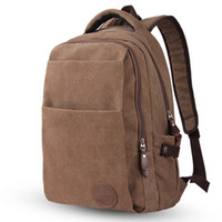 Atacado-2017 Novo Brand Designer Estilo Men Canvas Leisure School Mochilas Masculino 15,6 Laptop Laptop Mochila Vintage Men's Shoulder Bags