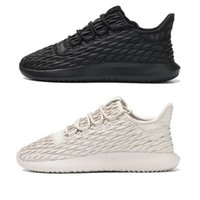 Wholesale Leather Tattooed - 2017 New Arrival Tubular Shadow BB8819 Thorns Tattoo All Black 350 Boost for Men Women Kanye West Casual Sneakers Running Shoes Size 36-45
